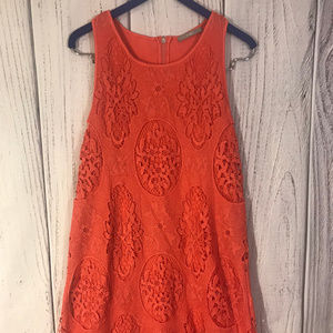 Coral Lace Tart Dress